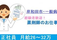 【岸和田市/賞与4ヶ月/退職金制度あり】託児所あり/年間休日111日/病院で薬剤師のお仕事/経験が活かせます イメージ